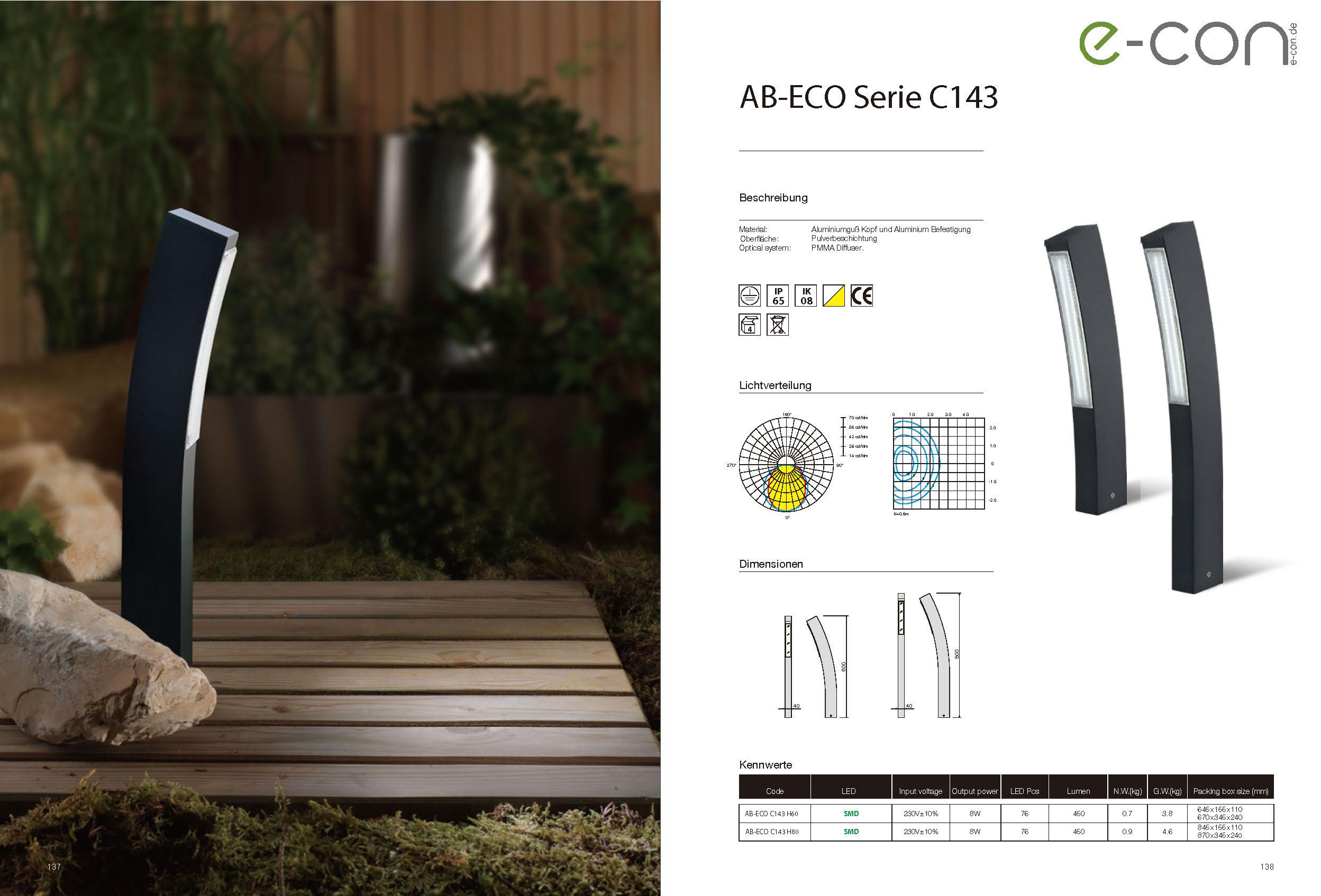 AB-ECO C143 Beschreibung
