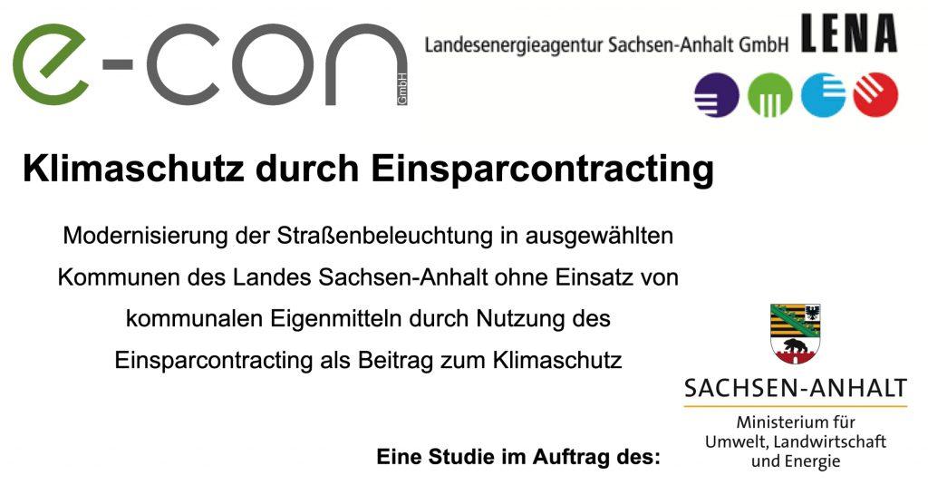 Klimaschutz durch Einsparcontracting eine Studie der e-con GmbH